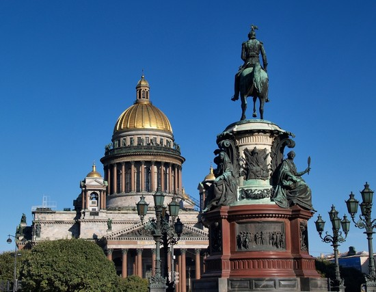 Photo St. Isaac's Cathedral in St Petersburg - Pictures and Images of St Petersburg - 550x427  - Author: Jò, photo 1 of 55