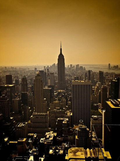 Photo new york das empire state building in der daemmerung in New York - Pictures and Images of New York