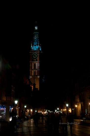 Photo Danzica di notte in Gdansk - Pictures and Images of Gdansk
