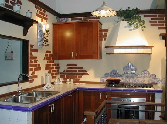 Foto cucina in muratura a pozzuoli 550x408 autore ar k arte in ceramica foto 4 di 37 - Struttura cucina in muratura ...