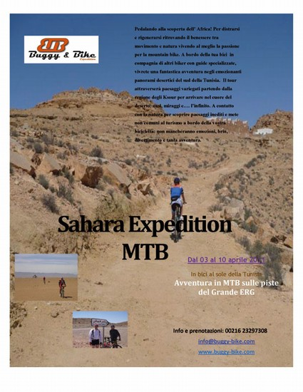 Photo tunisi sahara expedition mtb in Tunis - Pictures and Images of Tunis - 425x550  - Author: Buggy & Bike expedition, photo 1 of 29