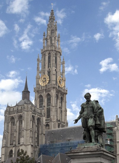 Photo anversa la statua di rubens in Antwerp - Pictures and Images of Antwerp 