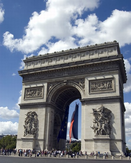 Photo paris arc de triomphe a paris in Paris - Pictures and Images of Paris - 444x550  - Author: Editorial Staff, photo 3 of 680