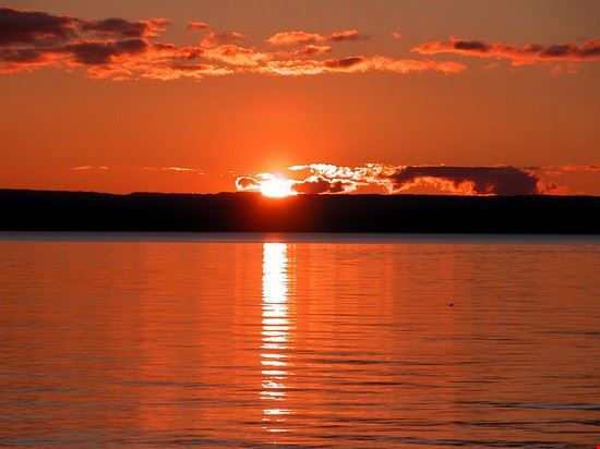Sonnenuntergang  in Taupo