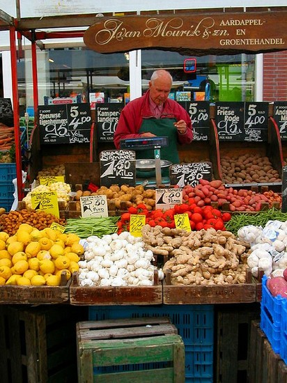 Photo Aardappel en Groentehandel in Amsterdam - Pictures and Images of Amsterdam
