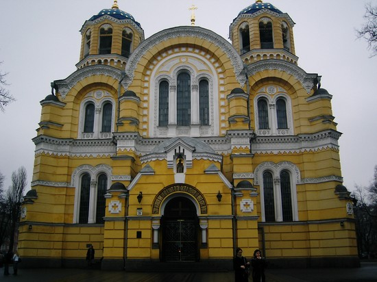 Photo chiesa st volodymyr kiev in Kiev - Pictures and Images of Kiev - 550x412  - Author: Ernesto, photo 28 of 48