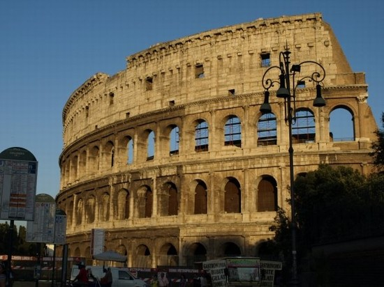 Photo Sunset al Colosseo in Rome - Pictures and Images of Rome