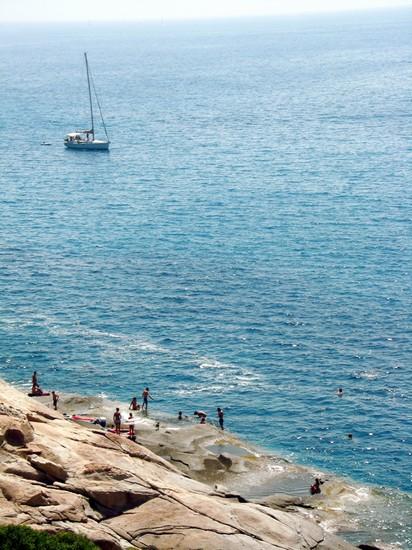 Foto scogli piatti con piccole 39 piscine 39 naturali nella parte occidentale dell 39 isola nei pressi - Isola di saona piscine naturali ...