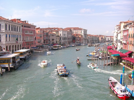 Photo Canal Grande visto dal Ponte di Rialto in Venice - Pictures and Images of Venice