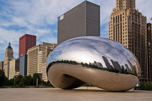 Photo chicago la cloud gate the bean a chicago in Chicago - Pictures and Images of Chicago - 500x333  - Author: Editorial Staff, photo 1 of 228