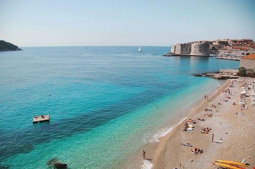 Spiaggia Banje a Dubrovnik