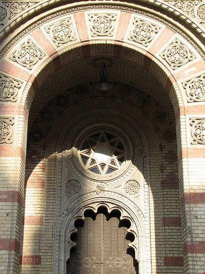 46234 budapest eingang der grossen synagoge