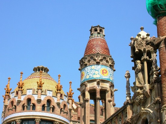 Photo barcellona hospital de la santa creu i sant pau barcellona in Barcelona - Pictures and Images of Barcelona - 550x412  - Author: Chiara, photo 211 of 653
