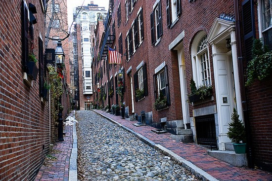 Photo boston scorcio di acorn street in Boston - Pictures and Images of Boston