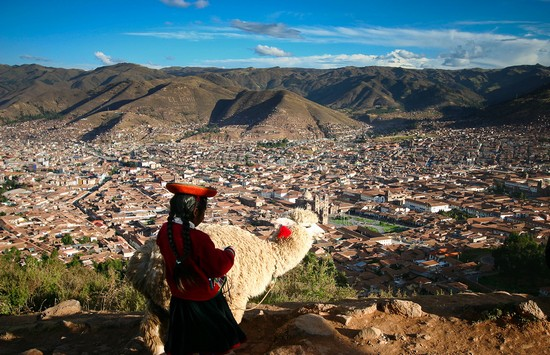 Photo View of Cusco from the Cristo Blanco in Cuzco - Pictures and Images of Cuzco