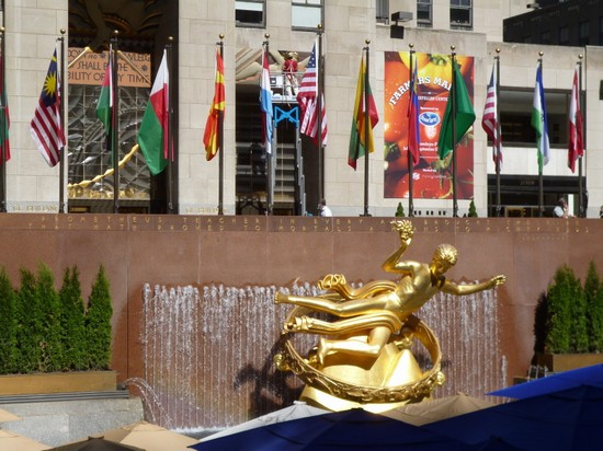 Photo Rockfeller Center plaza in New York - Pictures and Images of New York