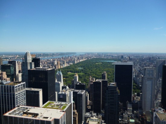 Photo vista dal top of the rock su central park new york in New York - Pictures and Images of New York