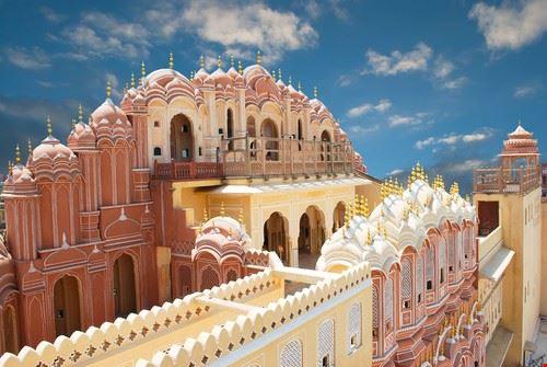 Jaipur dans le Rajasthan en Inde, Hawa Mahal