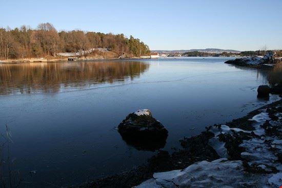 Fiordo di Oslo in primavera