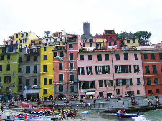 Photo Vernazza:Panorama in Vernazza - Pictures and Images of Vernazza