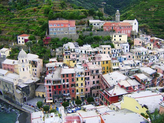 Photo Vernazza: Panorama dall'alto in Vernazza - Pictures and Images of Vernazza