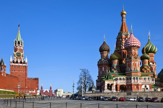 Photo Cattedrale di San Basilio e Cremlino in Moscow - Pictures and Images of Moscow