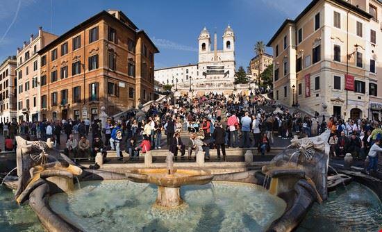 53545 rome piazza di spagna place de l  espagne  a rome