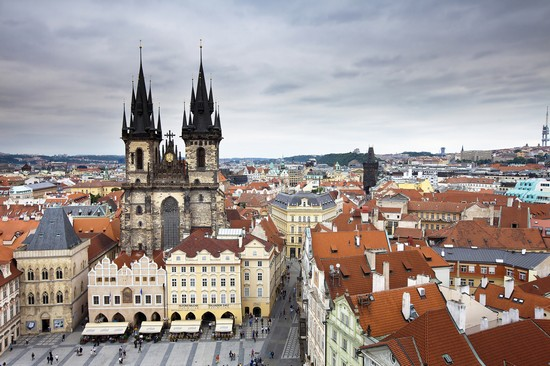 Photo Il cuore di Praga dall'alto in Prague - Pictures and Images of Prague