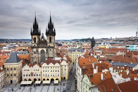 il cuore di praga dall alto praga: Bilder und Fotos aus Prag- 550x366  - Autor: Redaktion, Foto 13 von 565