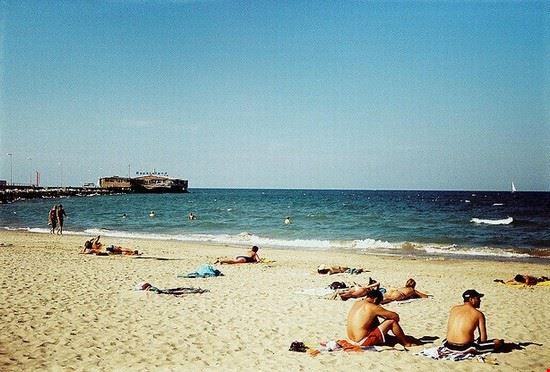 Una spiaggia libera di Rimini