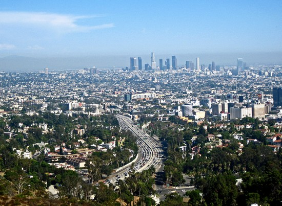 Photo Downtown Los Angeles dalla Mulholland Drive in Los Angeles - Pictures and Images of Los Angeles