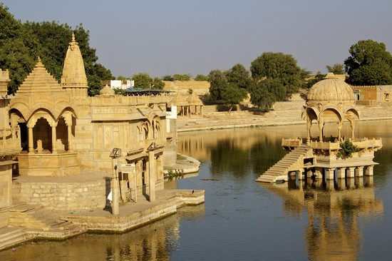 Photo Gadi Sagar al tramonto in Jaisalmer - Pictures and Images of Jaisalmer