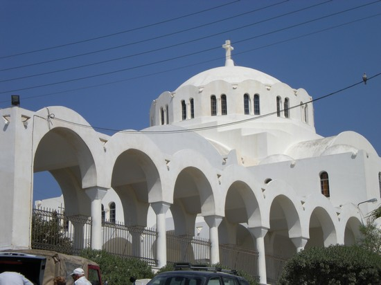 Photo Gli archi di una chiesa in Santorini - Pictures and Images of Santorini