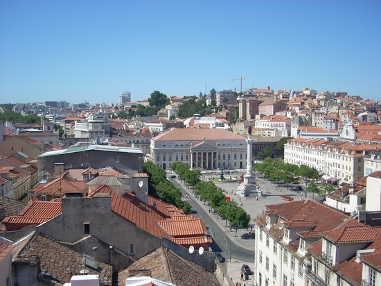 Photo Praça Dom Pedro IV o Praça Rossio vista dall'elevador de Santa Justa in Lisbon - Pictures and Images of Lisbon