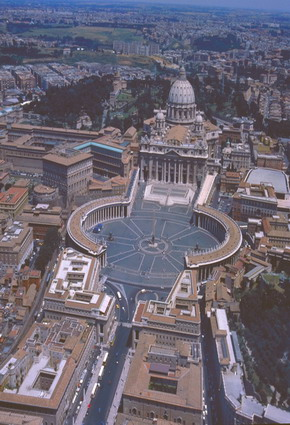 Photo Piazza San Pietro - foto aerea in Rome - Pictures and Images of Rome