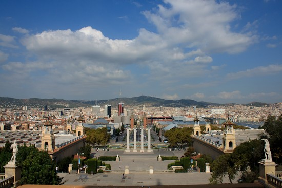 Photo plaza de espana barcellona in Barcelona - Pictures and Images of Barcelona 