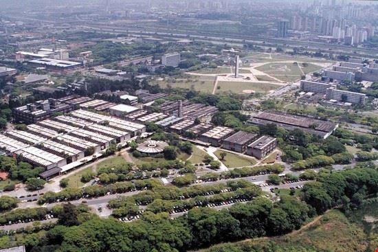 L'università di San Paolo ripresa dall'alto