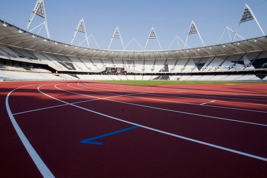 Photo londra la pista dell  olympics stadium che ospitera le gare di atletica in London - Pictures and Images of London