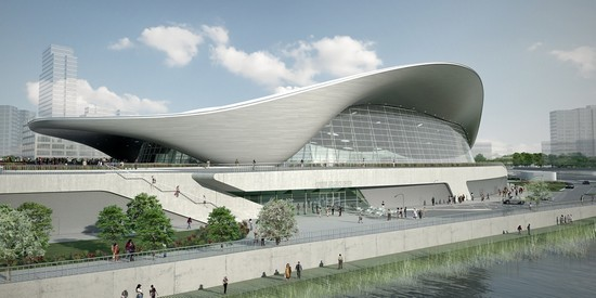 Photo londra l  aquatics centre il nuovo impianto per le gare di nuoto in London - Pictures and Images of London