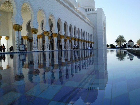 Photo moschea bianca abu dhabi in Abu Dhabi - Pictures and Images of Abu Dhabi - 550x412  - Author: Mauro, photo 14 of 33