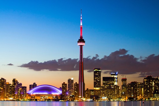 Photo Skyline Notturno in Toronto - Pictures and Images of Toronto