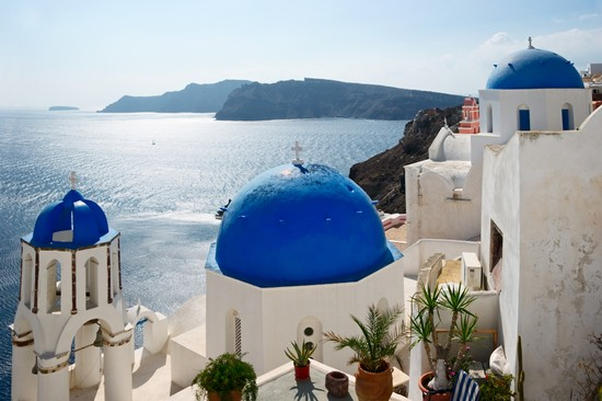Photo un classico panorama santorini in Santorini - Pictures and Images of Santorini - 550x366  - Author: Editorial Staff, photo 42 of 129