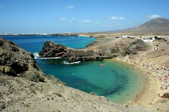 Photo playa papayago lanzarote in Lanzarote - Pictures and Images of Lanzarote - 550x366  - Author: Editorial Staff, photo 12 of 26