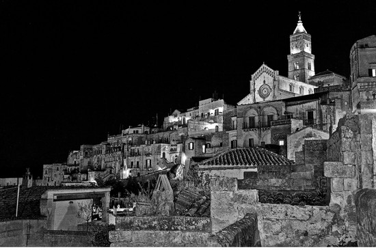 Photo notturno matera in Matera - Pictures and Images of Matera