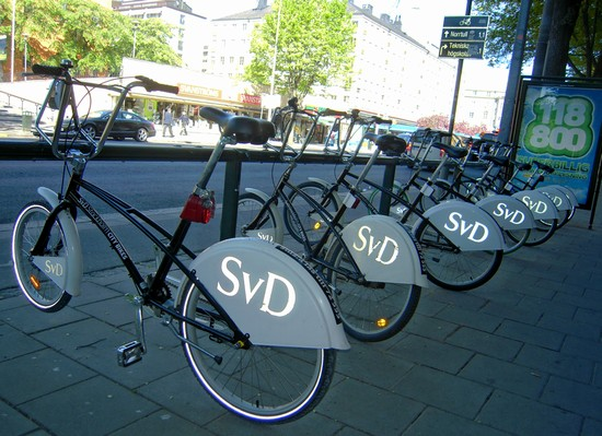Photo punto di raccolta delle City Bikes in Stockholm - Pictures and Images of Stockholm