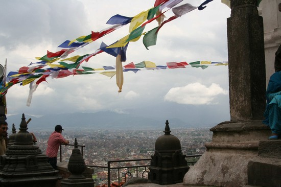 Photo panorama dal Tempio delle Scimmie in Kathmandu - Pictures and Images of Kathmandu
