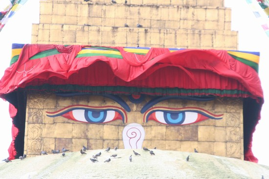 Photo Buddha Eyes in Kathmandu - Pictures and Images of Kathmandu