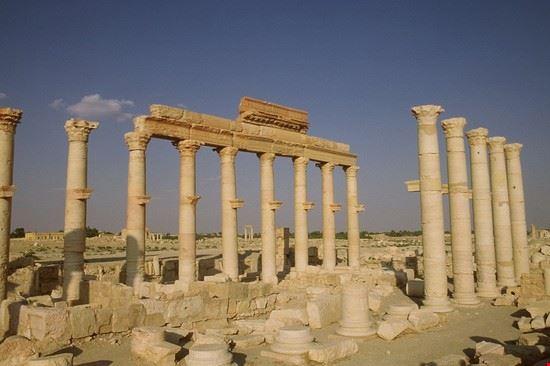 Le rovine di Palmira