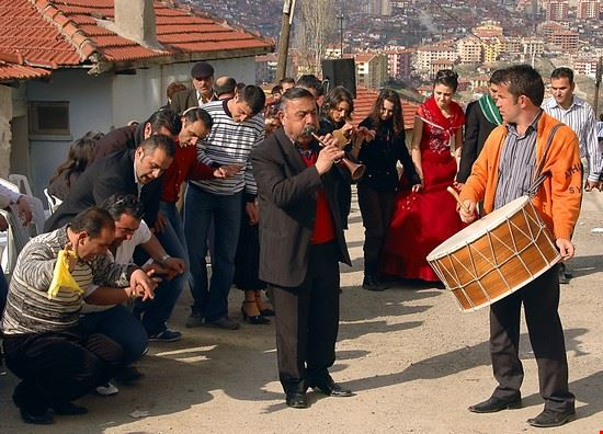 Musicisti nel centro storico