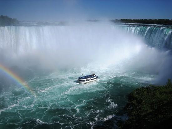 foto arcobaleno sulle cascate del niagara a toronto
